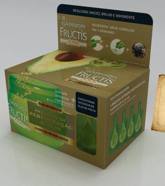 3D Mock-up Garnier Fructis